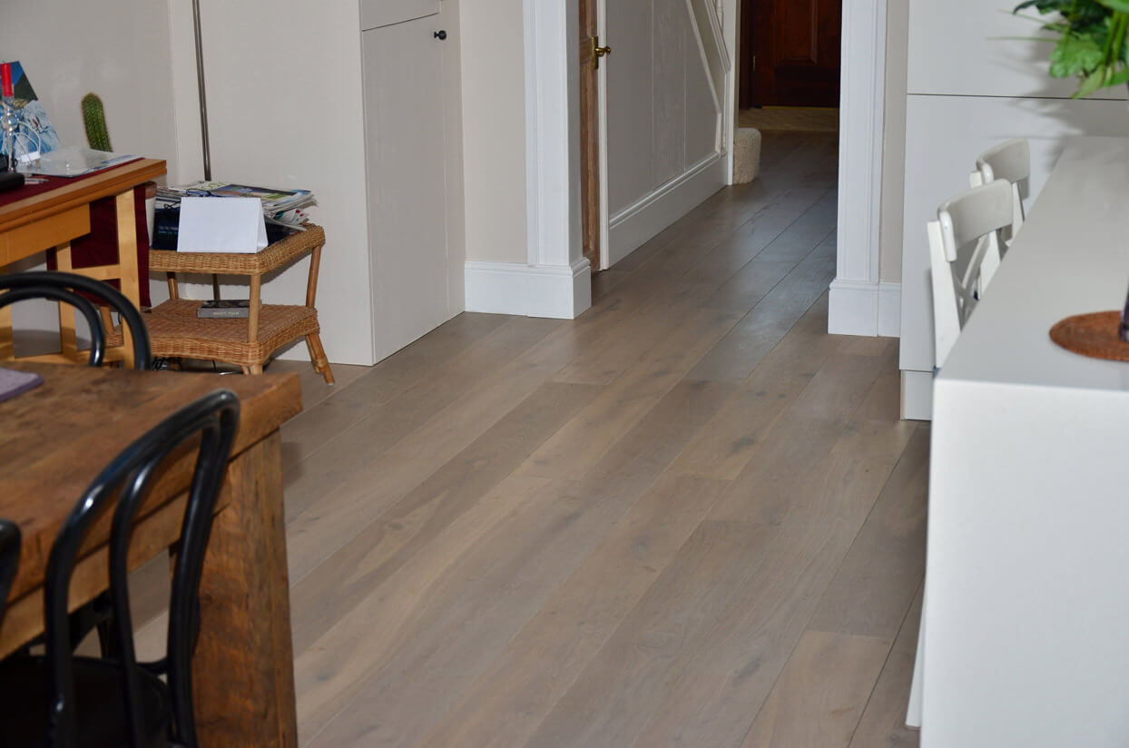 Fumed oak flooring west kensington for Parquet wood flooring