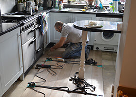 Oak Floor Installation