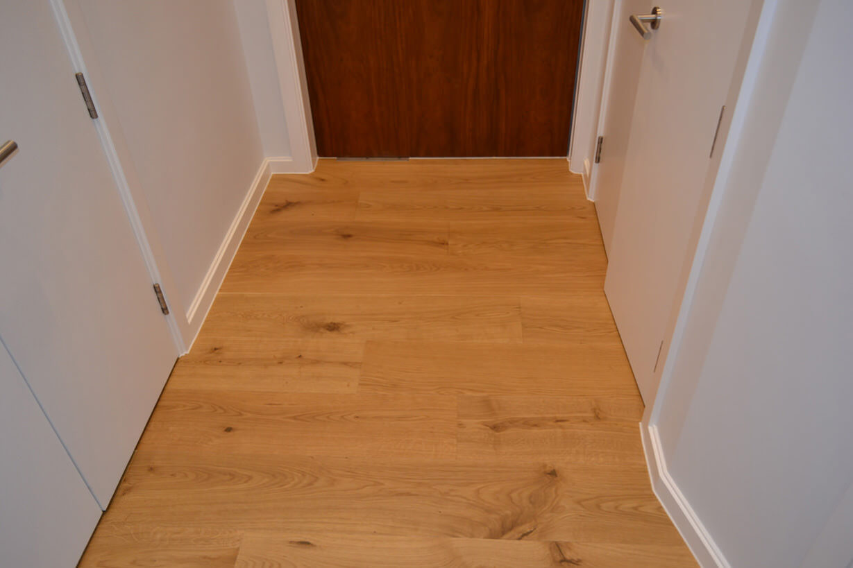 3 oak portfolio project natural oiled oak in camden town for Natural oak wood flooring