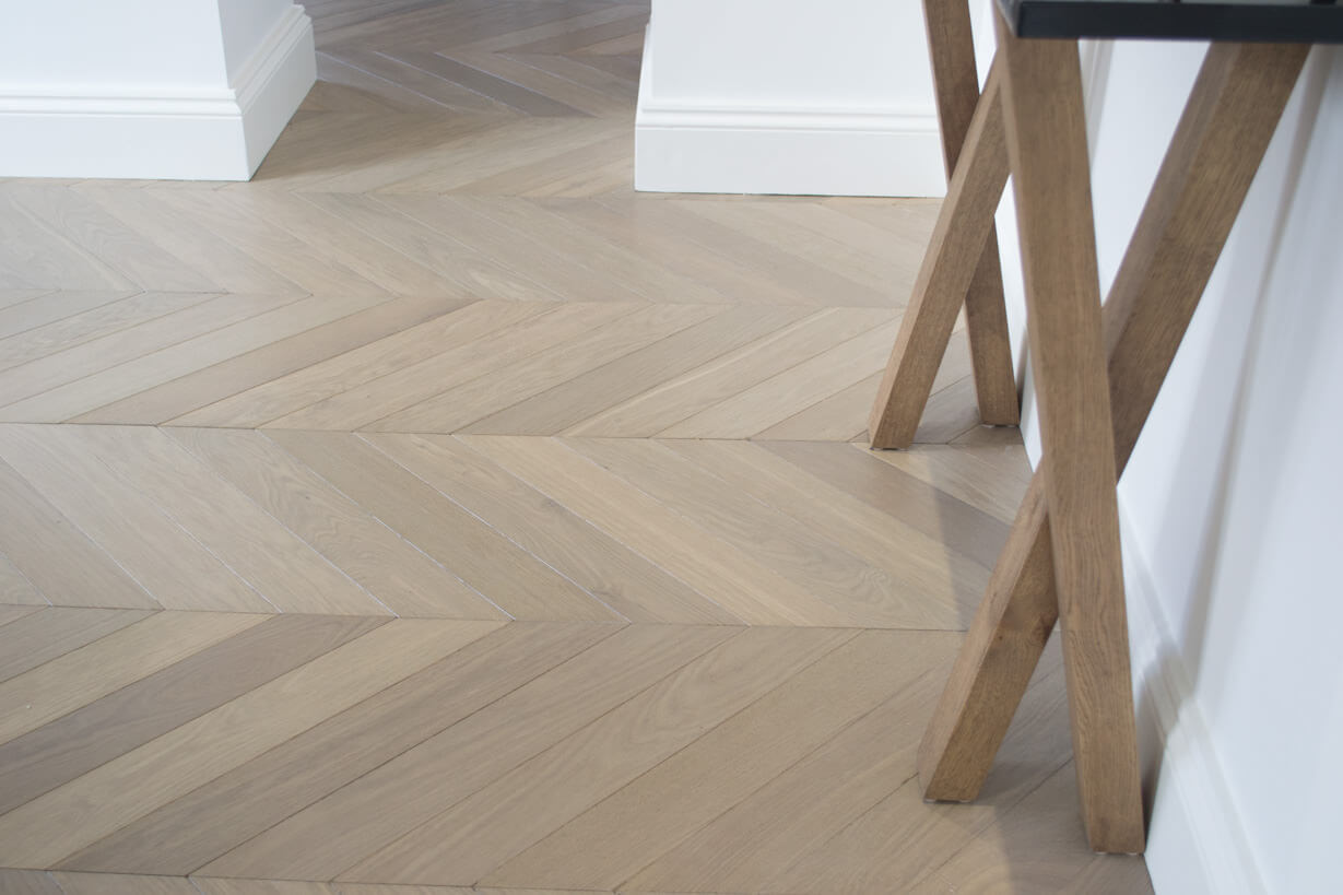 3 Oak Portfolio Chevron Oak Wood Flooring Kensington London