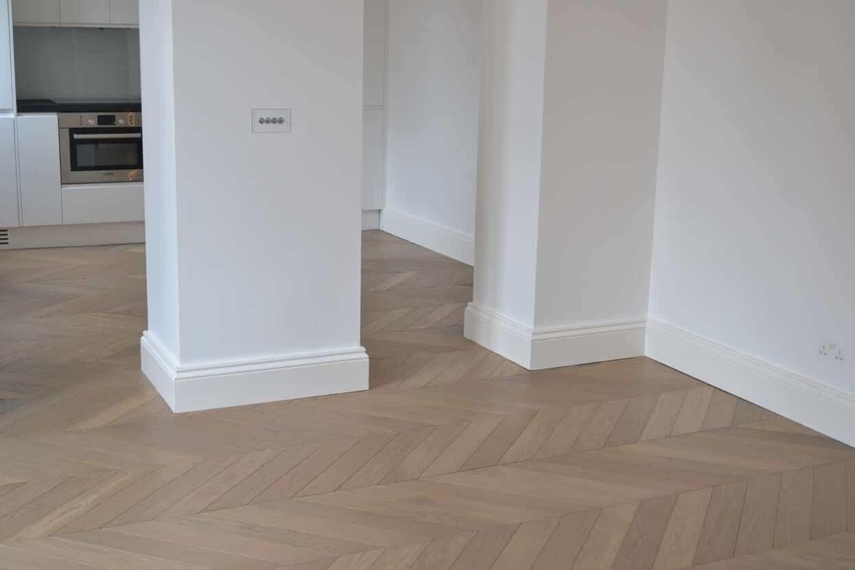 3 Oak Portfolio Chevron Oak Wood Flooring Kensington London