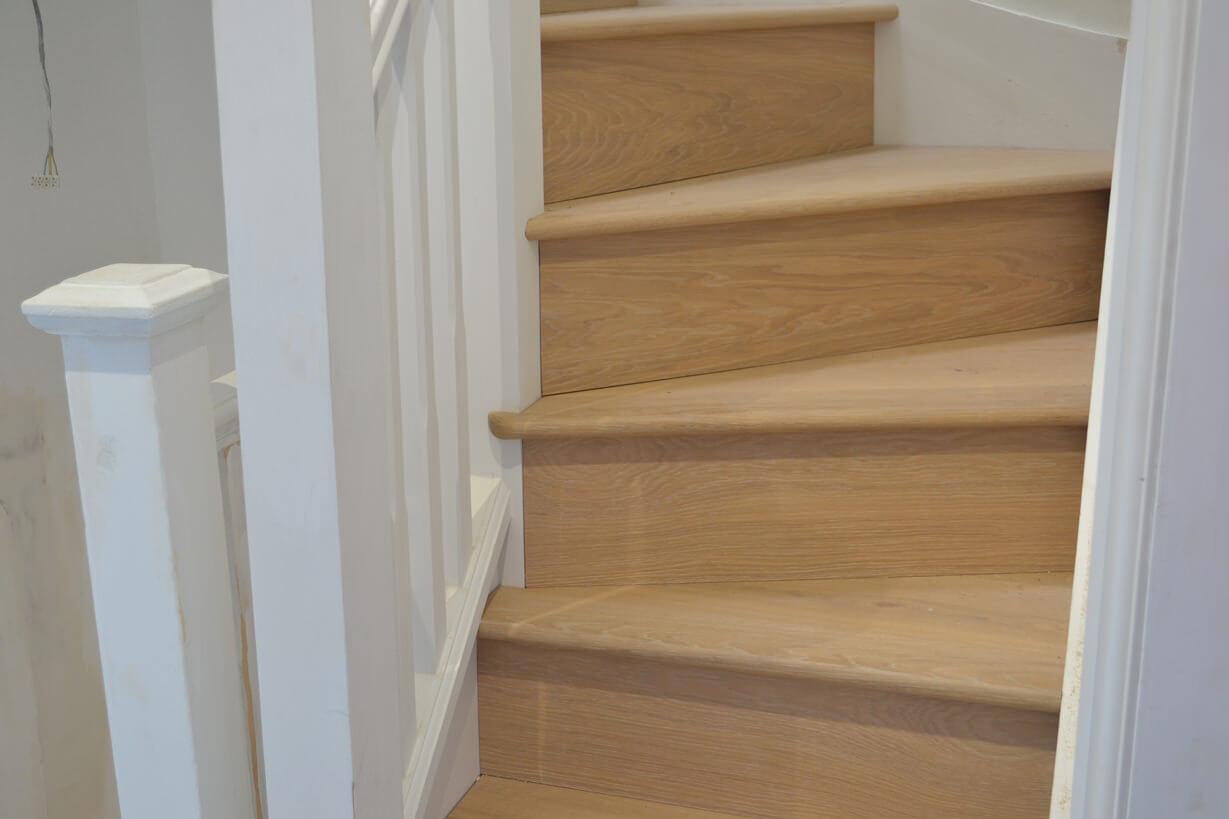 3 Oak News Light Wood Flooring Straicase Cladding In London