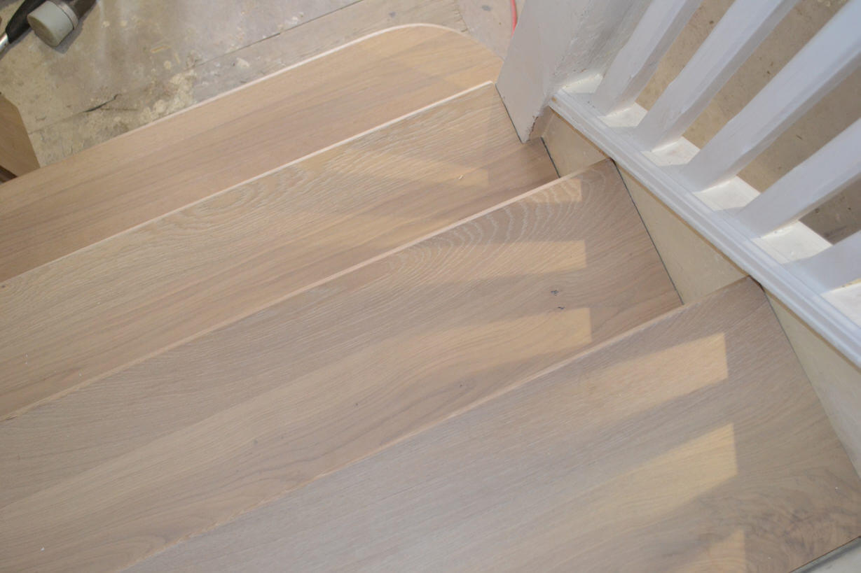 3 Oak News Light Wood Flooring Straicase Cladding In London