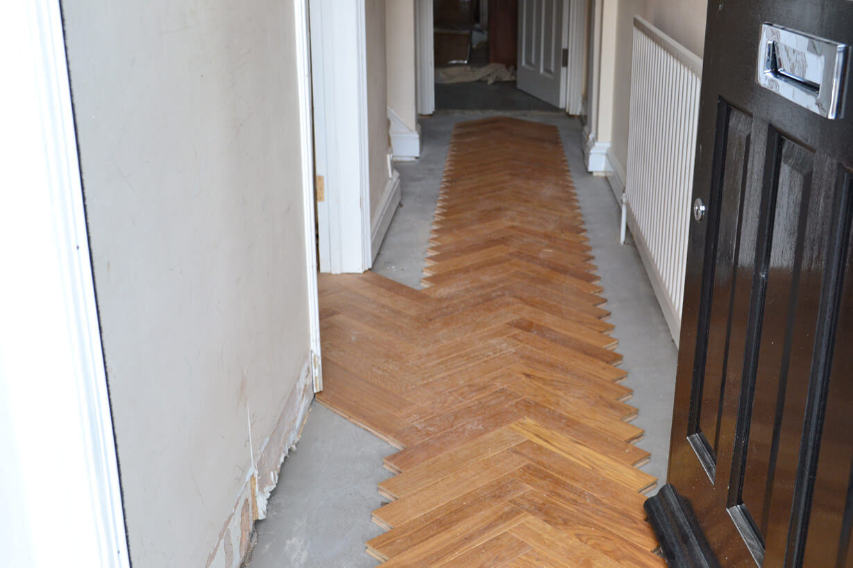 3 Oak News Fitting Engineered Herringbone Parquet Flooring