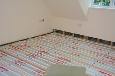 Jan's Land The Underfloor Heating Almost Done