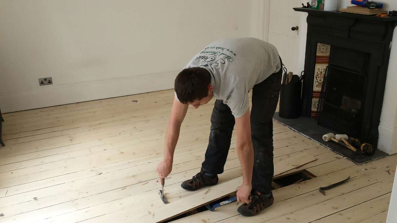 Removal of Old Floor Boards