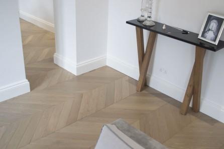 Chevron Oak Wood Flooring, Kensington London